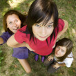 Three girlfriends at the park. — Stock Photo