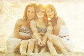 Portrait of three beautiful girls. — Stock Photo