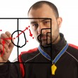 Soccer tactical plan — Stock Photo #5380521