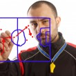 Soccer  tactical plan — Stock Photo