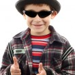Stock Photo: Boy with sunglasses and hat