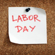 Labor day reminder - Stock Photo