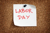 Labor day reminder — Stock Photo