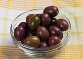 腌制黑橄榄 — 图库照片