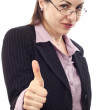 Businesswoman showing OK sign — Stock Photo #6028530