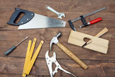 Carpenter's tools — 图库照片