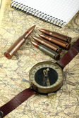 Old military compass — Stock Photo