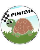 Turtle Racer — Stock Vector