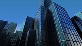 大厦的角度查看 3d — 图库照片