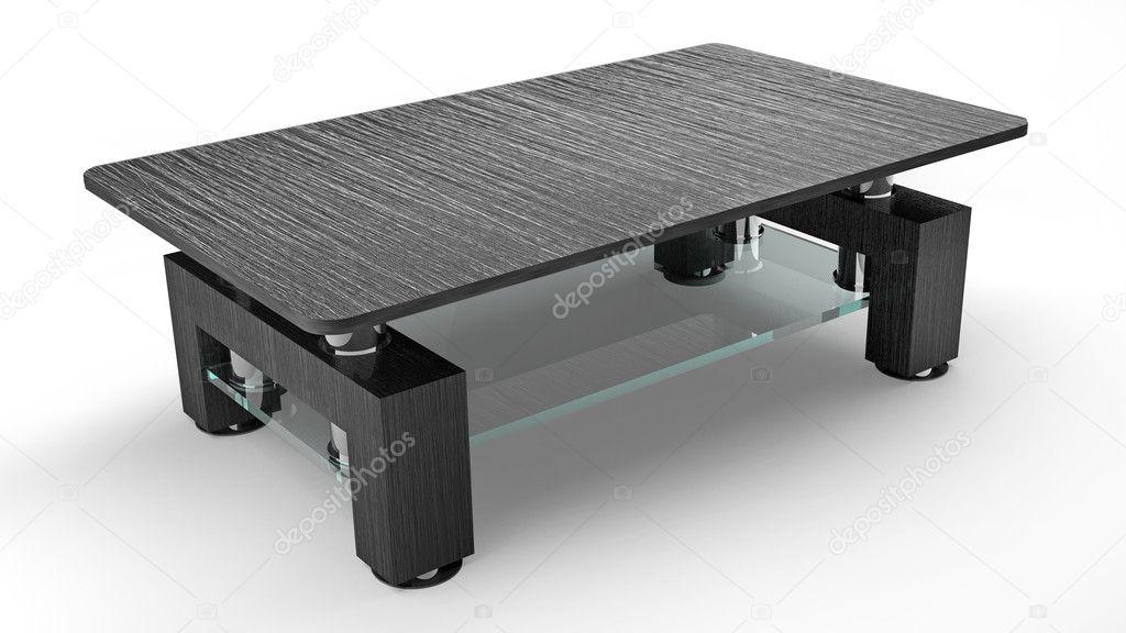 现代的棕色的木桌子