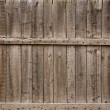 Close up of gray wooden fence — Stock Photo