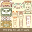 Label art nouveau - Stockvectorbeeld