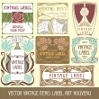 Royalty-Free Stock Vector Image: Label art nouveau