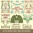 Label art nouveau — Vettoriali Stock