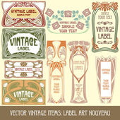 Label art nouveau — Stock Vector