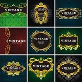 Vintage style frame — Stock Vector
