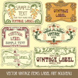 Label art nouveau — Stockvector #6663569