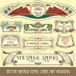 Label art nouveau — Stockvector #6663581