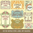 Label art nouveau — Stockvector  #6663591