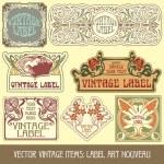 Label art nouveau — Stock Vector #6663617