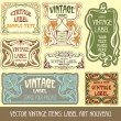 Label art nouveau — Stockvector #6663636
