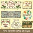 Label art nouveau — Stockvector #6663649