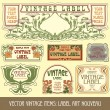 Label art nouveau — Vector de stock #6663927