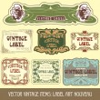 Label art nouveau — Stock Vector #6663938