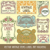 Label art nouveau — Vector de stock