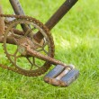 Pedal of old bicycle — Stock Photo