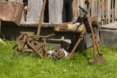 Oude verwoeste motor — Stockfoto