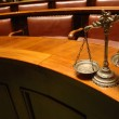 Decorative Scales of Justice in the Courtroom — Stock Photo #6077535