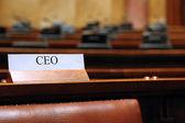 最高経営責任者の座席 — ストック写真