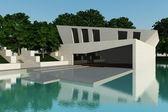 Modern villa day time — Stock Photo