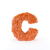 Intertwined letter C — Stock Photo