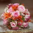Stock Photo: Colored bridal bouquet
