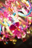 Crystals reflecting bright light - landscape interior — Stock Photo