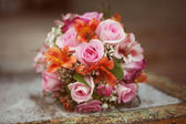 Colored bridal bouquet — Stock Photo