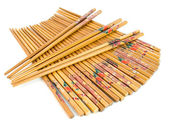 A lot of Chinese wooden chopsticks — Stock Photo