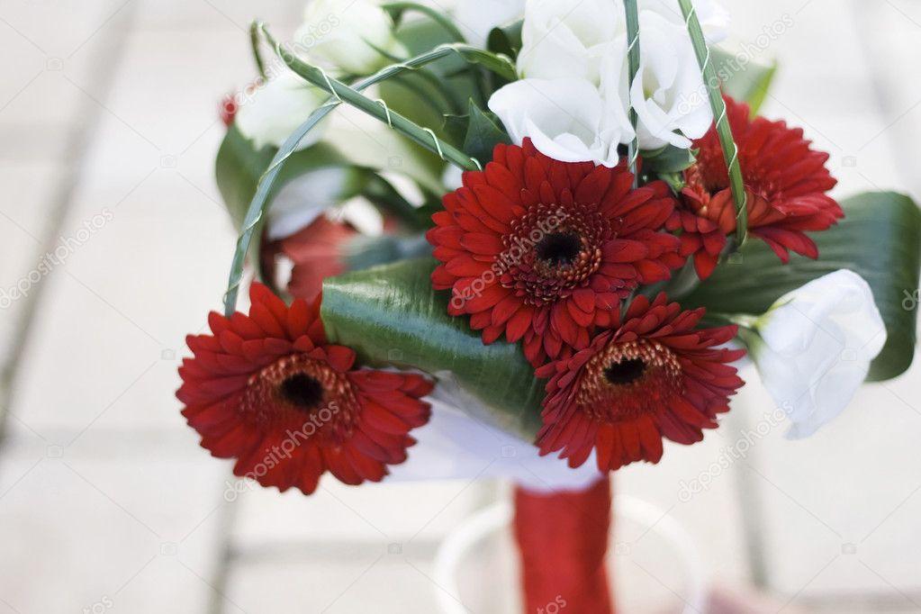 Red Gerbera Wedding Bouquets : Wedding bouquet of red gerbera stock photo ? yanapema