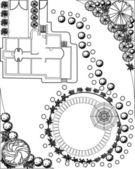 Landscape Plan — Stock Vector