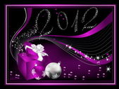 Happy New Year 2012 background — Stockvektor