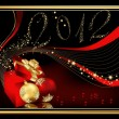 Happy New Year 2012 background - Stok Vektör