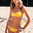 Yellow bikini — Stock Photo