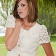 Stock Photo: White dress