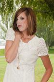 White dress — Stock Photo