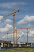 The construction of the apartment building — Stock fotografie