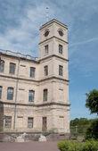 The clock tower of Big Gatchina palace. — Stock Photo