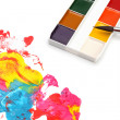 Brush and color paints - Lizenzfreies Foto