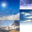 Sky set — Stock Photo